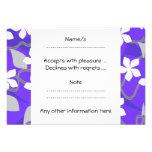Flores púrpuras y blancas. Modelo floral Anuncio