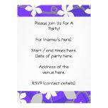 Flores púrpuras y blancas. Modelo floral Invitación Personalizada