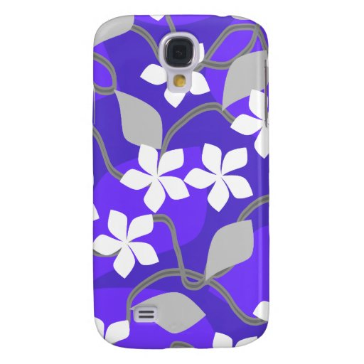 Flores púrpuras y blancas. Pern. floral
