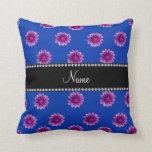 Flores púrpuras y rosadas azules conocidas almohadas