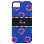 Flores púrpuras y rosadas azules conocidas funda para iPhone 5 barely there