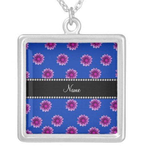 Flores púrpuras y rosadas azules conocidas persona colgantes
