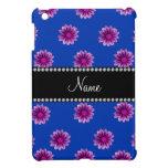 Flores púrpuras y rosadas azules conocidas persona iPad mini cárcasas