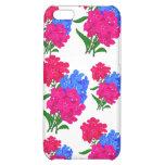 Flores que cubren el caso del iPhone