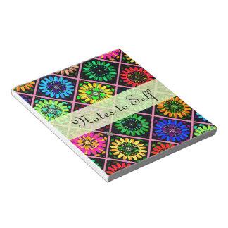 Flores radiantees del libro de recuerdos del color blocs