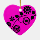 Flores razberry negras rosadas del estilo adorno para reyes