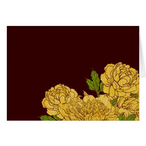 Flores regordetas amarillas Notecard Tarjeta Pequeña