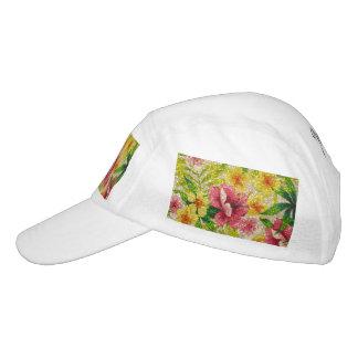 Flores relucientes del rosa y del amarillo gorra de alto rendimiento