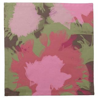 Flores retras abstractas a partir de los años 60 servilleta