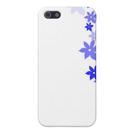 flores retras azules iPhone 5 funda
