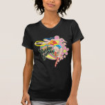 Flores retras de la Mujer Maravilla Camisetas