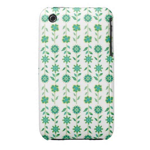 Flores retras de la primavera de la MOD Case-Mate iPhone 3 Cobertura