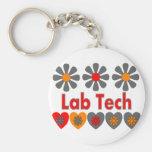 Flores RETRAS de la tecnología del laboratorio Llavero Personalizado