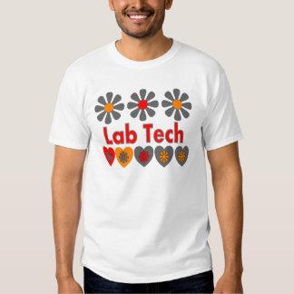 Flores RETRAS de la tecnología del laboratorio Playeras