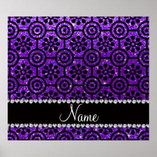 Flores retras del brillo púrpura conocido de impresiones