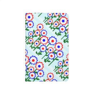 Flores retras del verano cuaderno grapado