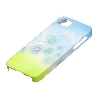 flores retras del verano en un diseño del campo iPhone 5 carcasa