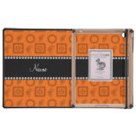 Flores retras enrrolladas anaranjadas conocidas pe iPad carcasas