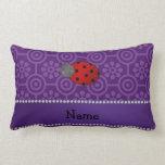 Flores retras púrpuras personalizadas de la almohada