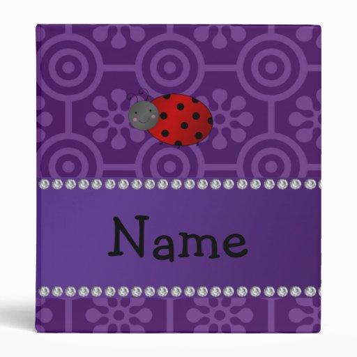 Flores retras púrpuras personalizadas de la mariqu