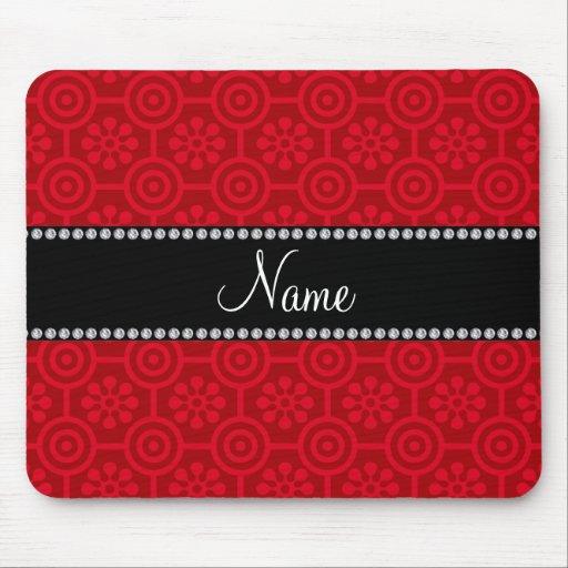 Flores retras rojas conocidas personalizadas mousepads