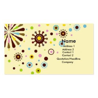 Flores retras tarjetas de visita