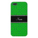 Flores retras verdes conocidas personalizadas iPhone 5 cárcasas