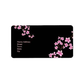 Flores retros 3 del vintage del pegatina de la dir etiqueta de dirección