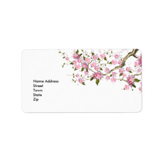 Flores retros del vintage del pegatina de la direc etiquetas de dirección