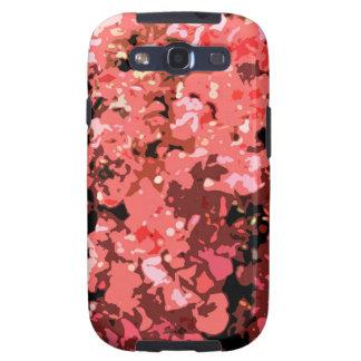 Flores rojas abstractas de Bougainville Samsung Galaxy SIII Funda