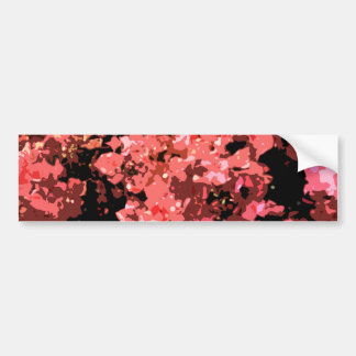Flores rojas abstractas de Bougainville Pegatina Para Auto