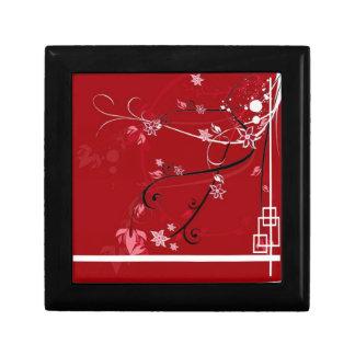Flores rojas cajas de regalo
