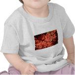 Flores rojas camiseta