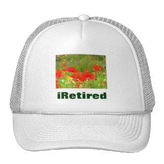 flores rojas de encargo blancas iRetired de la ama Gorro