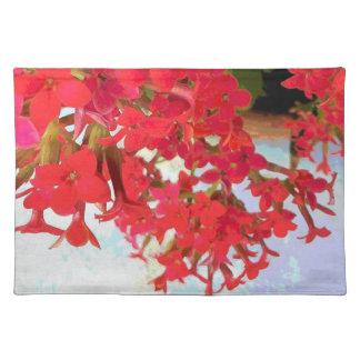 Flores rojas de Kalanchoe Manteles Individuales