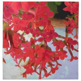 Flores rojas de Kalanchoe Servilletas De Papel
