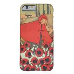 Flores rojas de la amapola del lobo de la capa con funda de iPhone 6 barely there