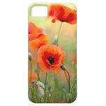 Flores rojas de la amapola iPhone 5 Case-Mate protectores