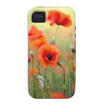 Flores rojas de la amapola iPhone 4/4S fundas