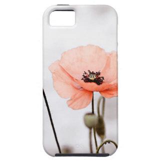 Flores rojas de la amapola iPhone 5 carcasas