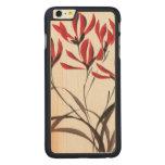 Flores rojas de la montaña funda de arce carved® para iPhone 6 plus slim