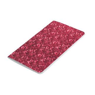 Flores rojas de rubíes del granate floral del cuaderno grapado
