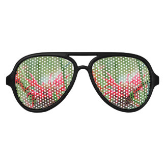 Flores rojas del bálsamo de abeja gafas de fiesta