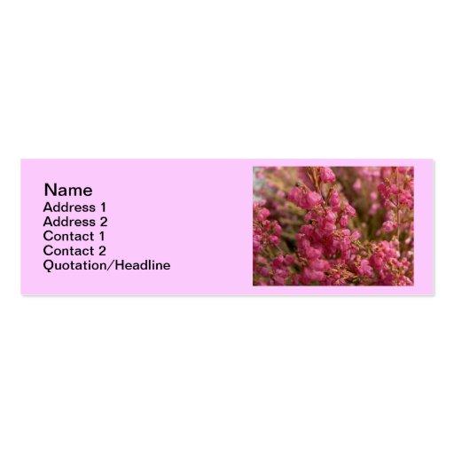 Flores rojas del brezo tarjetas de visita mini