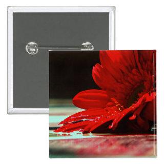 Flores rojas del Gerbera de la margarita Pin Cuadrada 5 Cm