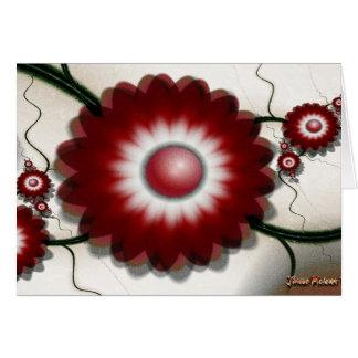 Flores rojas del verano tarjetas