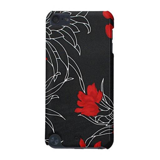 Flores rojas dramáticas en negro