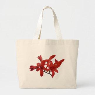 Flores rojas en rama bolsas