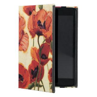 Flores rojas iPad mini carcasas
