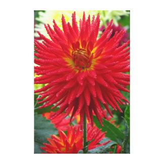 Flores rojas grandes impresión en lienzo